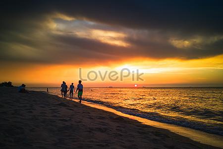 51 Gambar Pemandangan Pantai Di Waktu Senja HD Terbaik