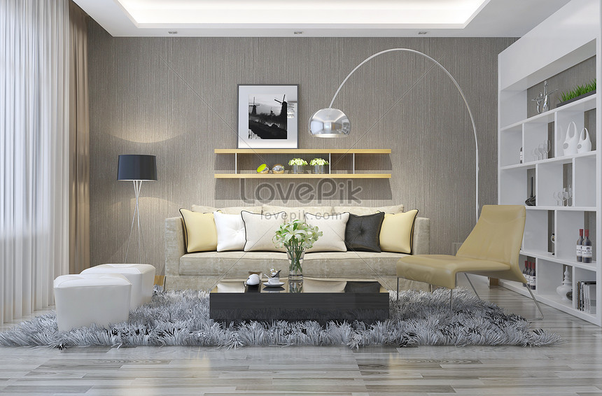 Modern Simple Sofa Living Room Creative Image Picture Free Download