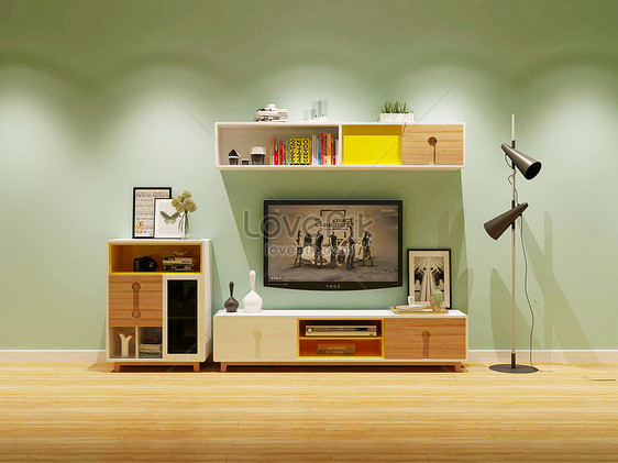 effect map of modern tv cabinet photo