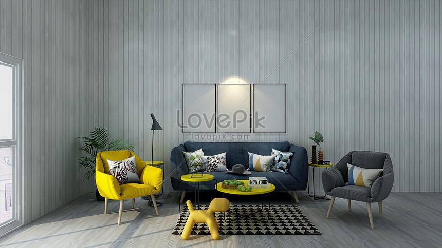 Indoor Living Room Scene Creative Image_picture Free ...