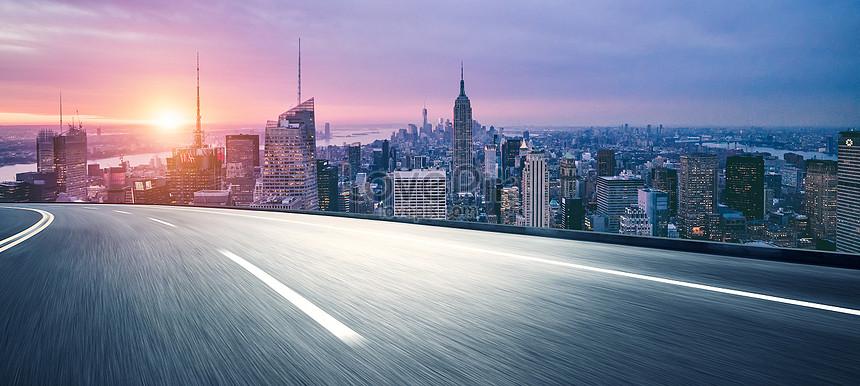 urban highway background