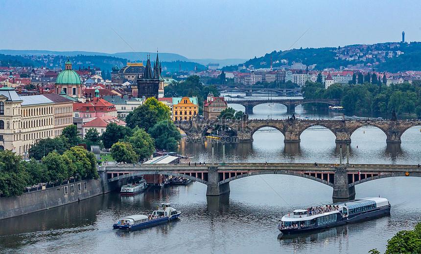 Czech Republic NEW POSTER Vltava River European City Travel Prague
