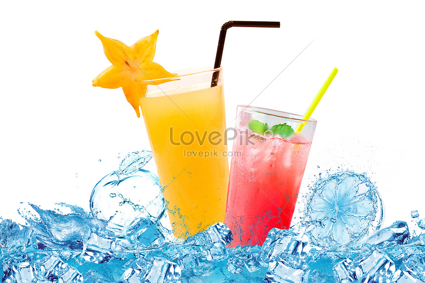 iced juice cool summer