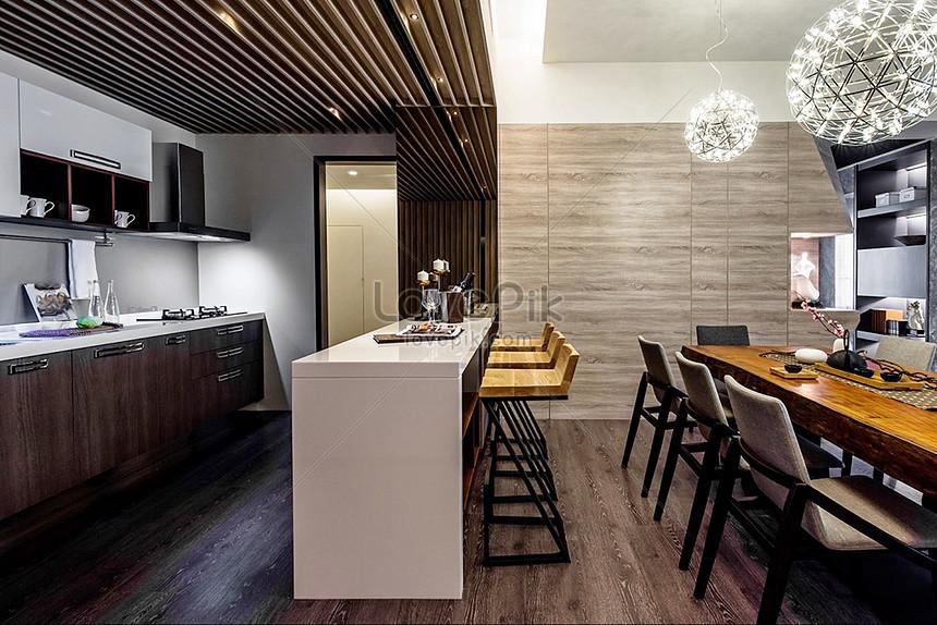 Photo de armoires de cuisine modernes rendus de table_Numéro ...