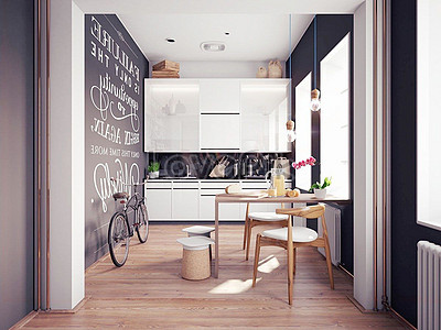nordic style kitchen wall nordic style kitchen effect map creative images pictures
