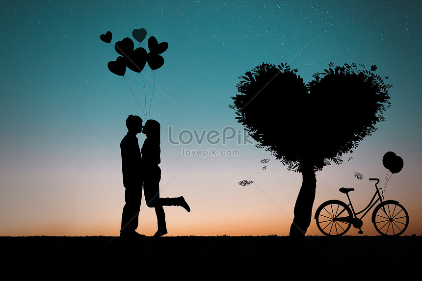 Lovers Silhouette Creative Image Picture Free Download 500995763 Lovepik Com