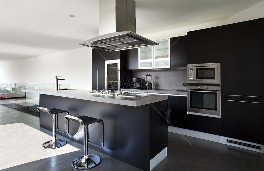 Photo de cuisine gris noir et blanc_Numéro de l ...
