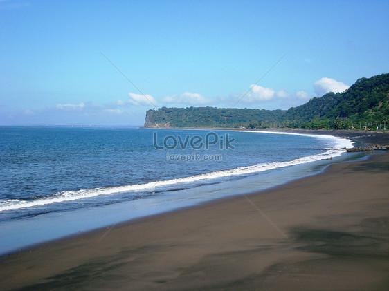 Bilder Zum Schwarzer Sandstrand Der Costa Ricadownload Foto