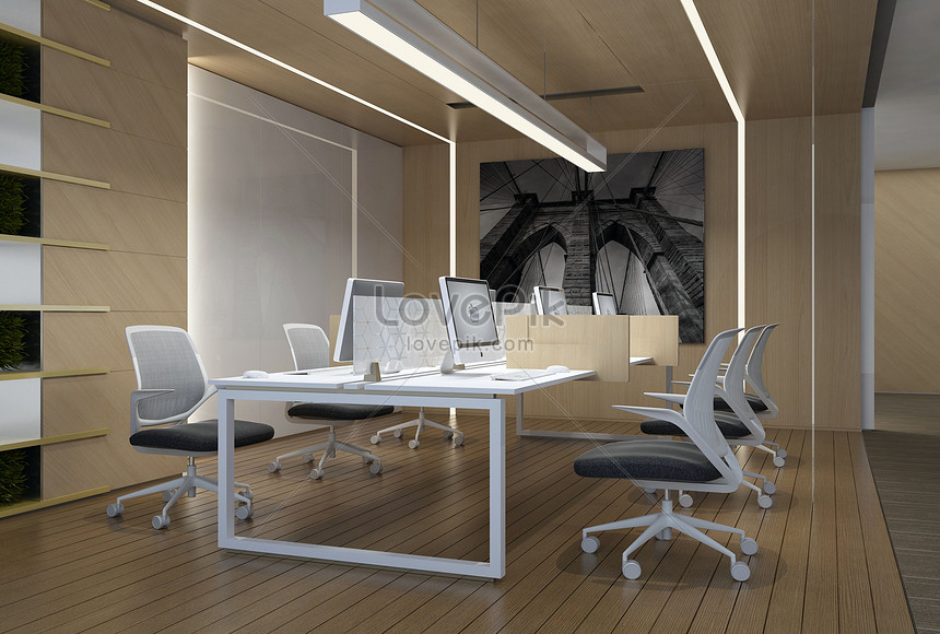 Office desks and chairs creative image_picture free download  501012756_lovepik.com