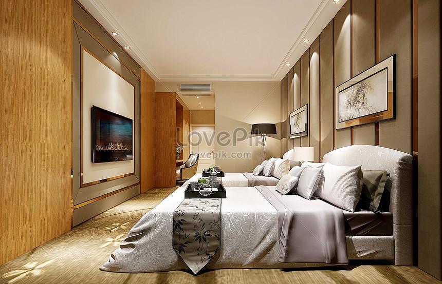 rendering di camera da letto di lusso Immagine ...