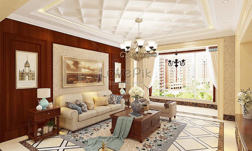 Photo de salon américain_Numéro de l\'image501016427_Format d ...