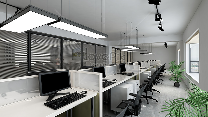 Office Background Rendering Renderings Creative Image Picture Free
