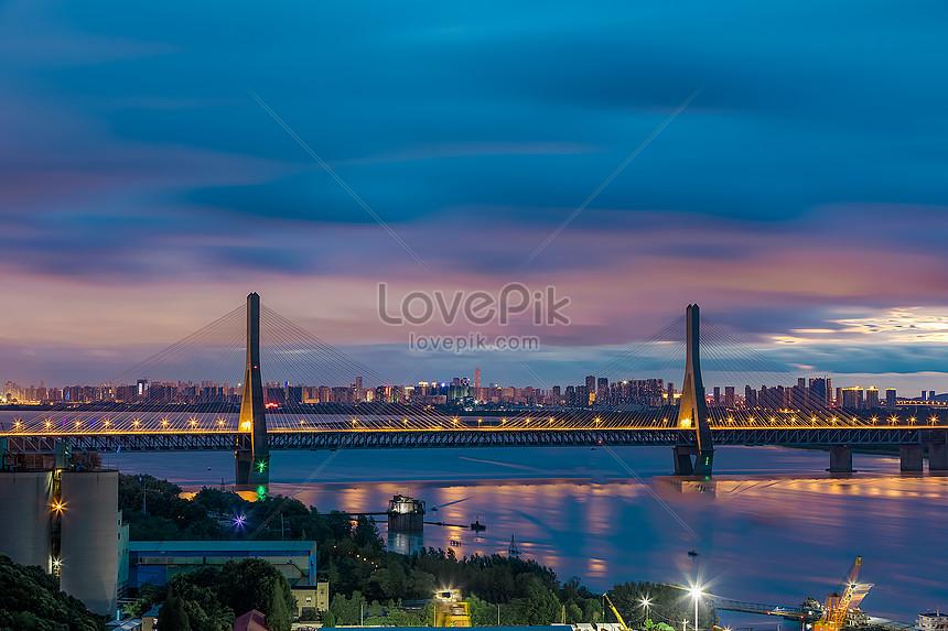 Wuhan tianxing zhou yangtze river bridge map photo image_picture