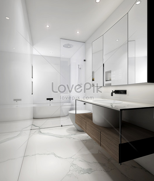 Nordic Style Bathroom Interior Design Renderings Photo Image Picture Free Download 501078355 Lovepik Com