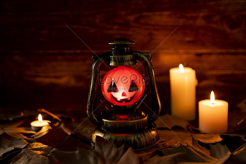 luz de calabaza de halloween