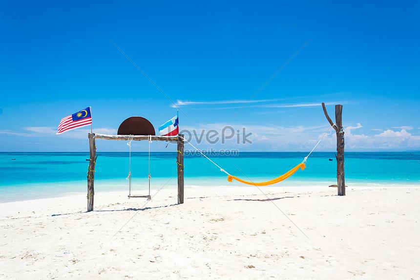 beach island beach sabah malaysia