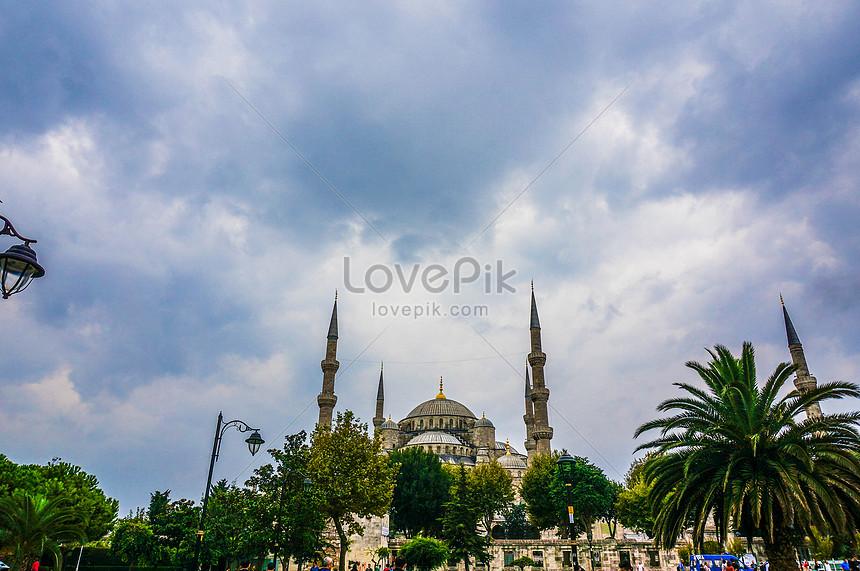 Masjid Biru Istanbul Turki Gambar Unduh Gratis Imej