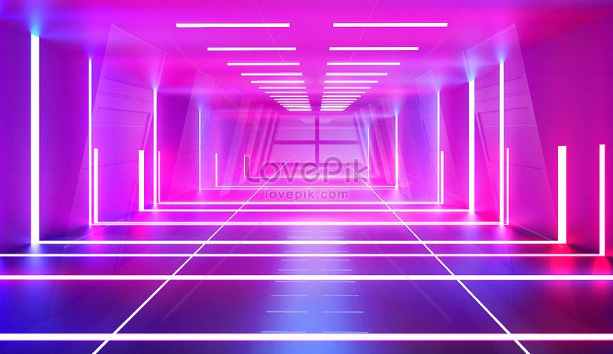 neon scene