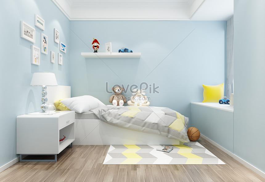 Nordic Style Childrens Room Bedroom Interior Design Renderings Photo Image Picture Free Download 501106906 Lovepik Com