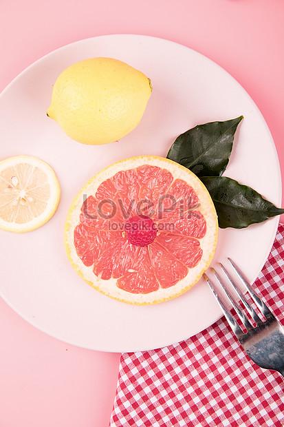 新鮮水果西柚檸檬