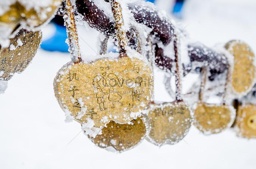 snowscape love concentric lock