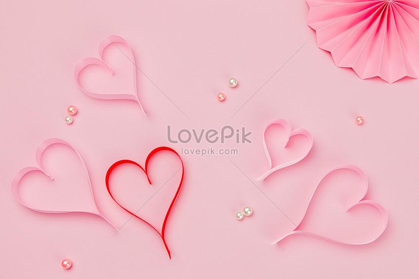 Valentine Của Màu Hồng Hình Trái Tim Băng Hình ảnh định