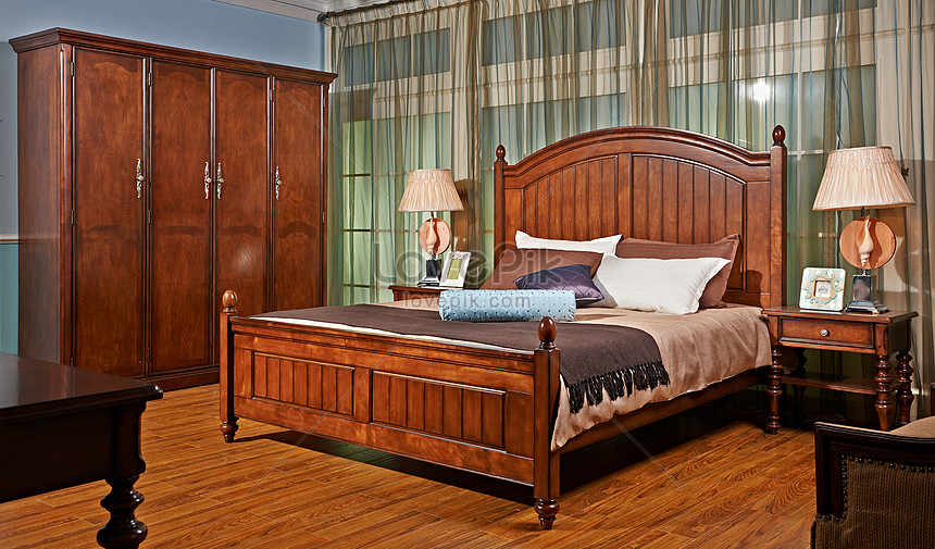 European Classical Solid Wood Furniture For Indoor Bedroom Photo Image Picture Free Download 501171868 Lovepik Com