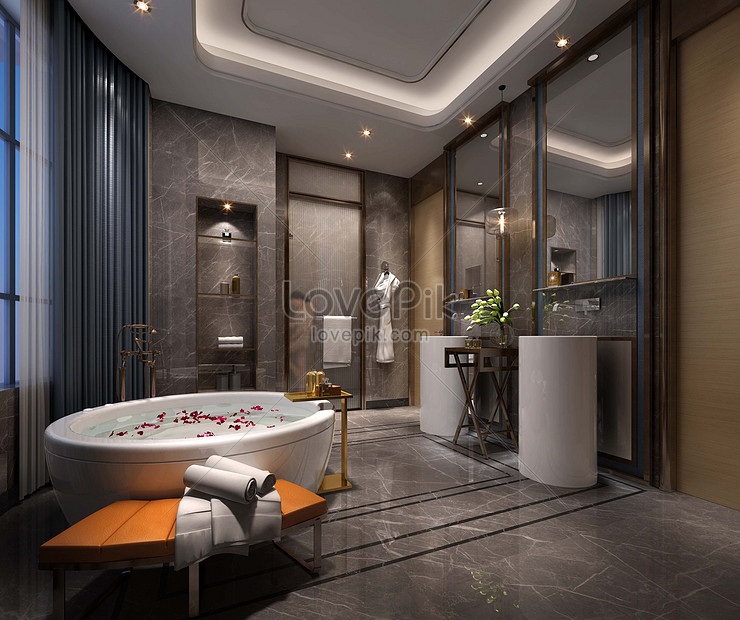 Rendering Desain Interior Kamar Mandi Gaya Klasik Gambar Unduh Gratis Foto 501210677 Format Gambar Jpg Lovepik Com