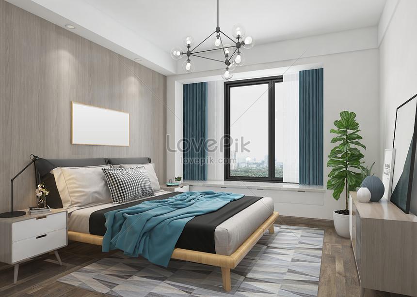 Modern Nordic Bedroom Interior Design Photo Image Picture Free Download 501213742 Lovepik Com