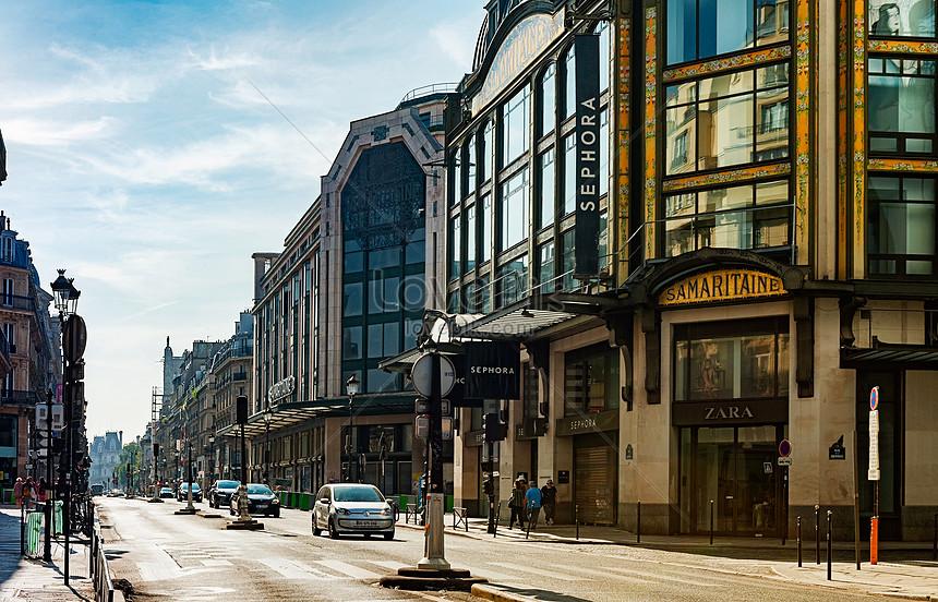 pemandangan jalan kota paris prancis gambar unduh gratis_