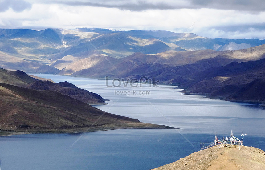 Bumbung Dunia Pemandangan Tibet Gambar Unduh Gratis Imej