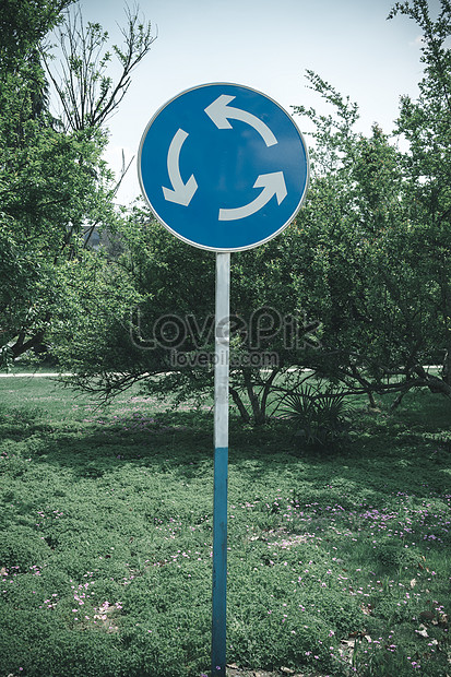 Traffic Roundabout Sign Photo Image Picture Free Download 501250952 Lovepik Com