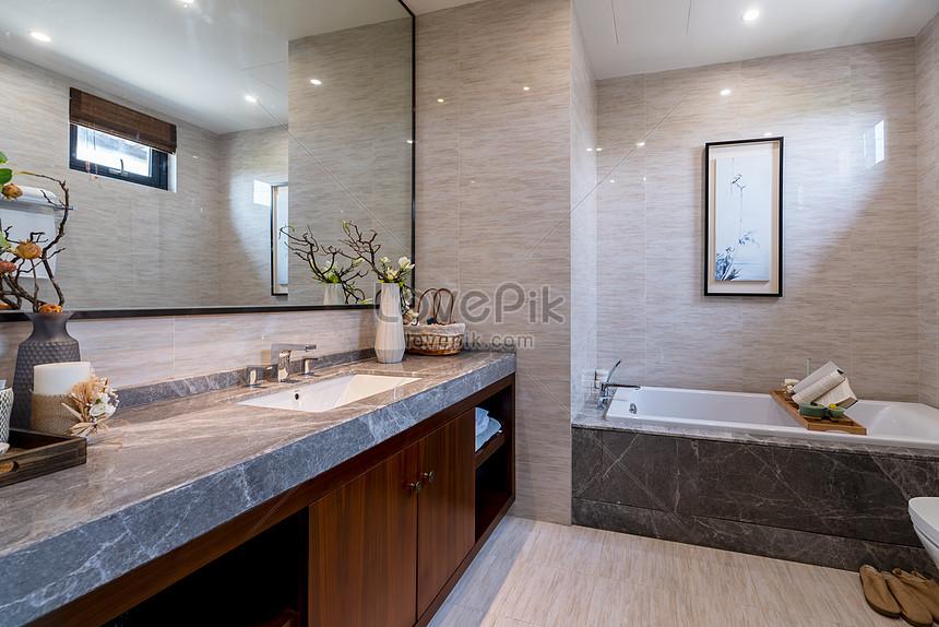 cuarto de baño en la nueva habitación modelo de villa china ...