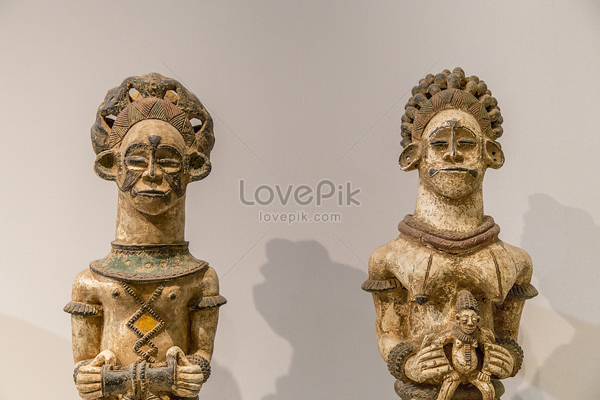 博物館非洲館特色雕塑