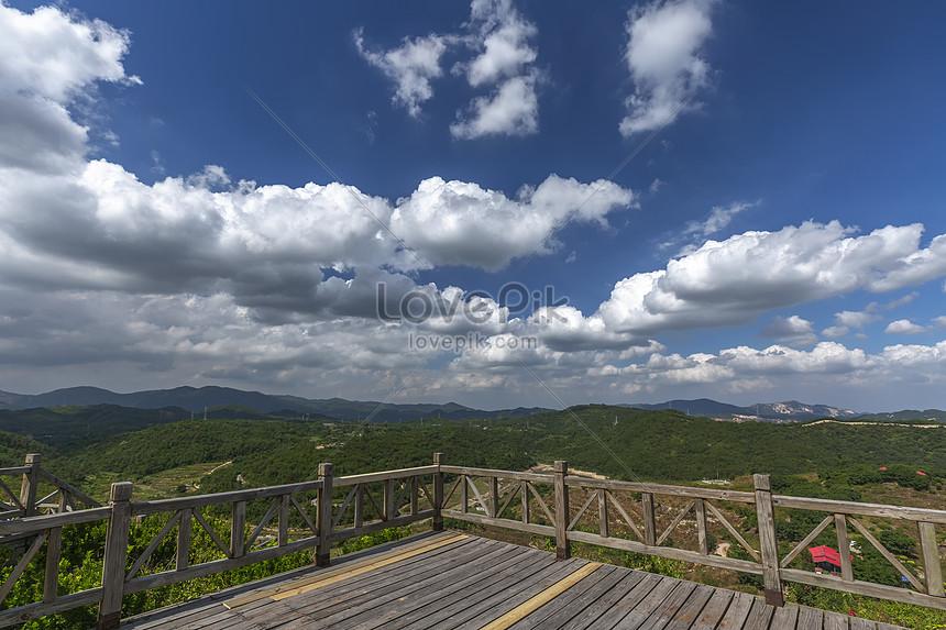 廈門大帽山的藍天白雲