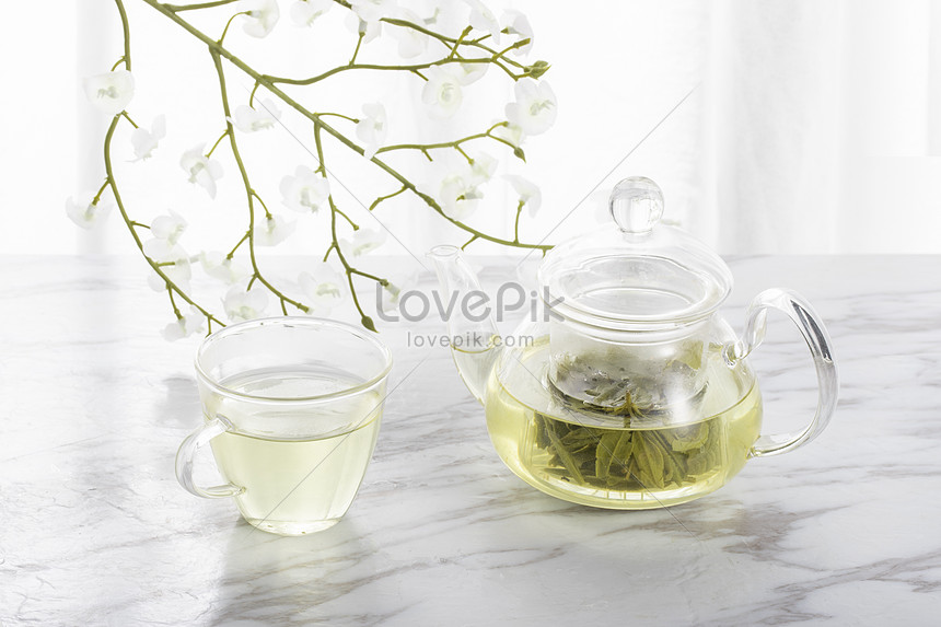 Green Tea And Glass Teapot Photo Image Picture Free Download 501305701 Lovepik Com