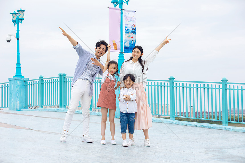 young family holiday