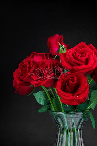 Vas Bunga Mawar Gambar Unduh Gratis Foto 501355774 Format Gambar Jpg Lovepik Com