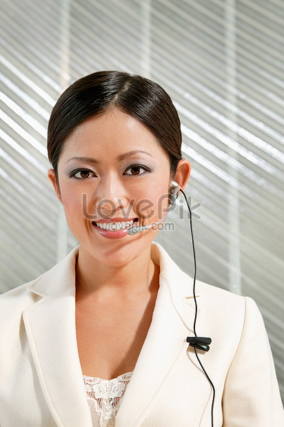 Woman With Phone Headset Photo Image Picture Free Download 501483410 Lovepik Com
