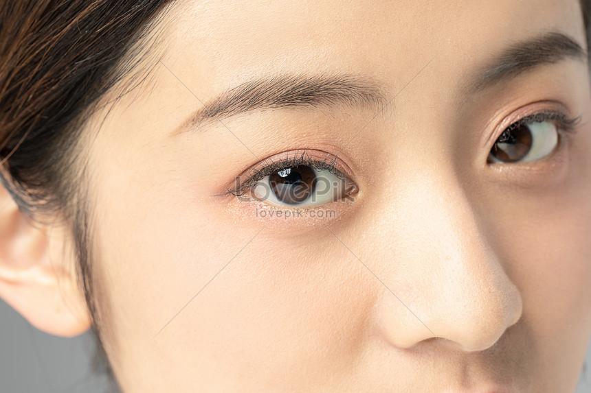 Tutup Mata Detail Wajah Wanita Gambar Unduh Gratis Imej 501538119 Format Jpg My Lovepik Com