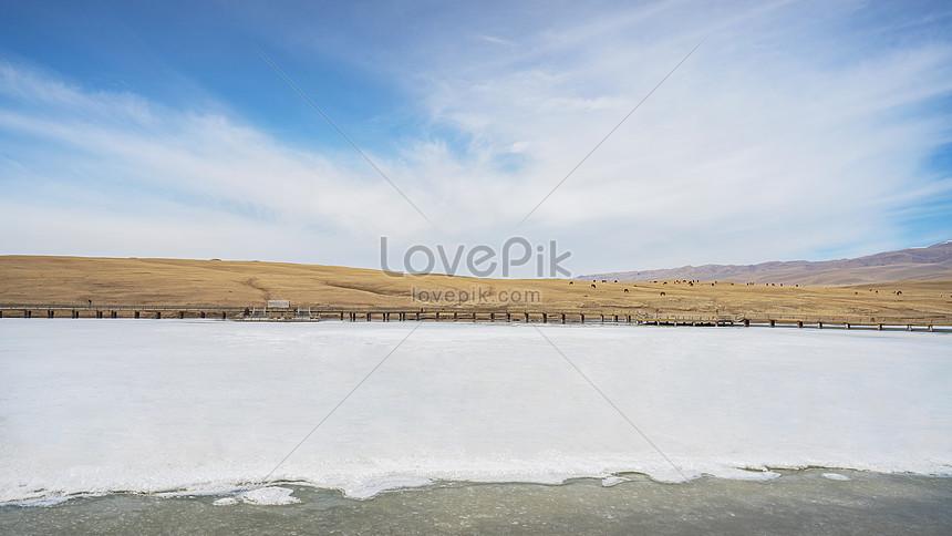 xinjiang travel snow covered road