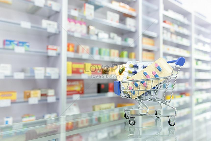 drug store shelf drug display