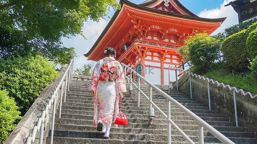kyoto kiyomizudera kimono girl