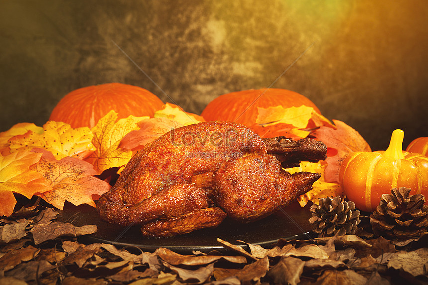 thanksgiving pumpkin and turkey