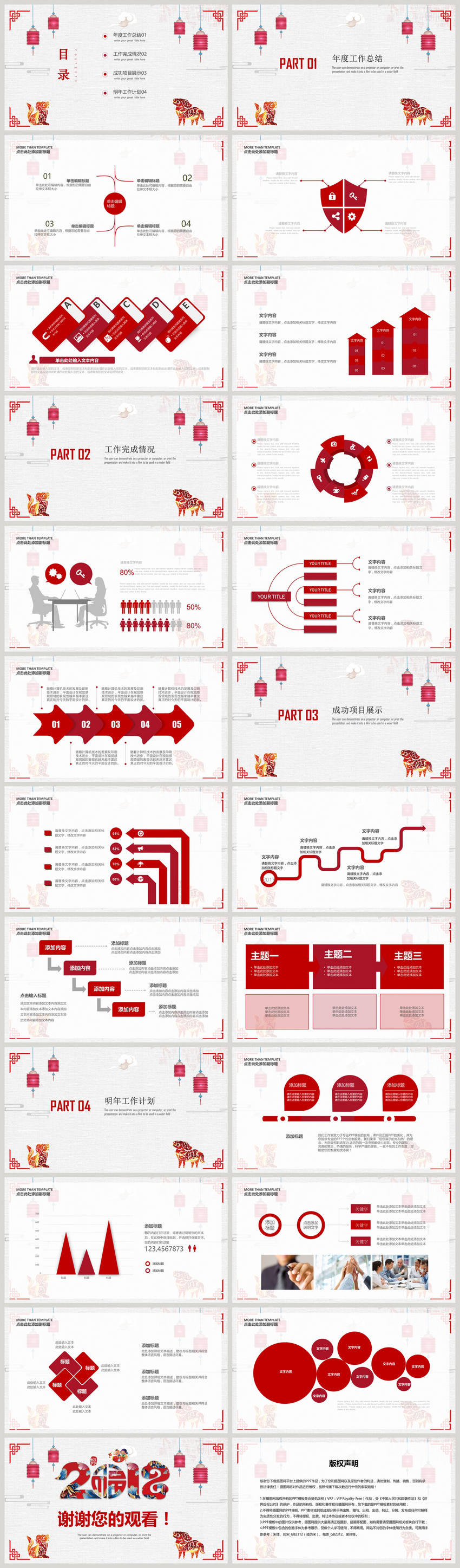 brief summary of chinese new years new year work ppt template
