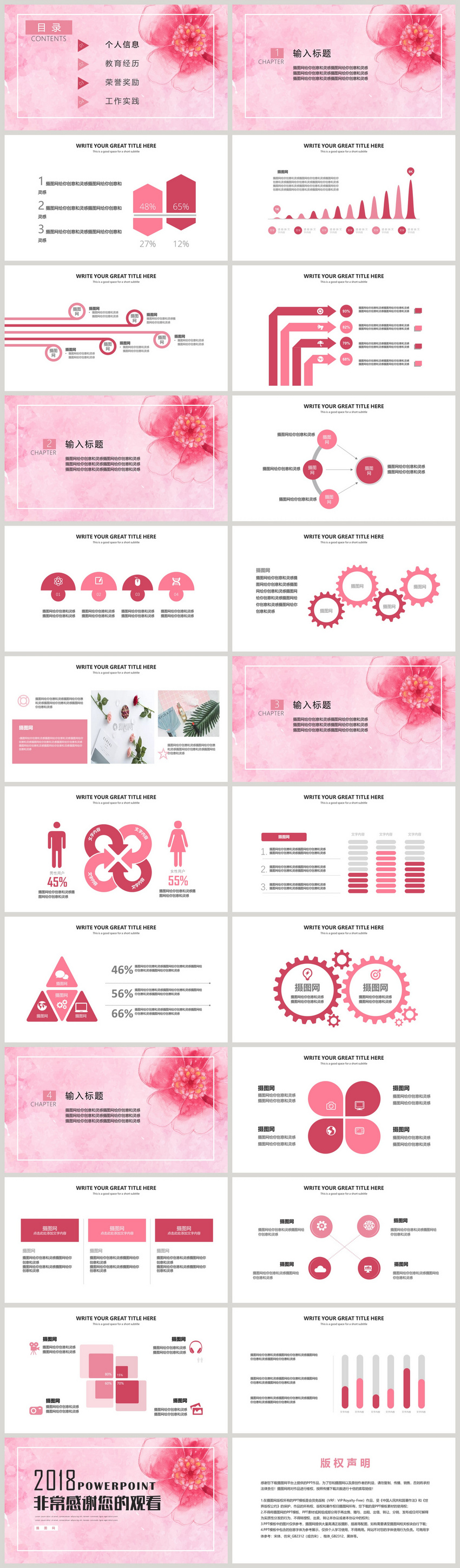 Minimalist Aesthetic Resume Post Competition Ppt Template Powerpoint