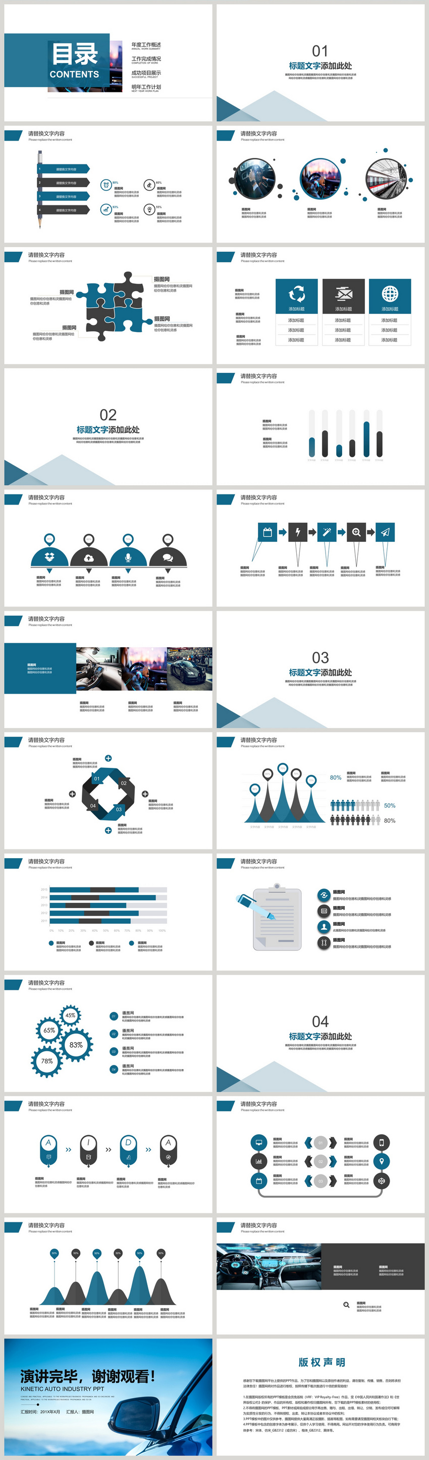 Auto sales summary marketing report ppt template powerpoint