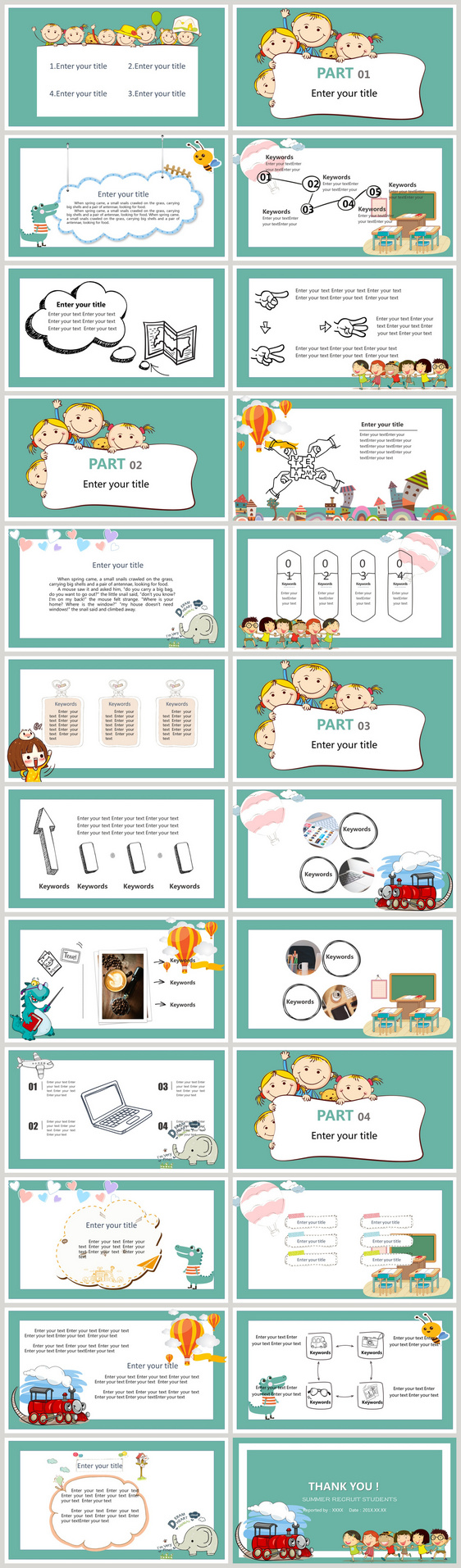 Report Ppt Template For Children S Education Summer Camp Activit