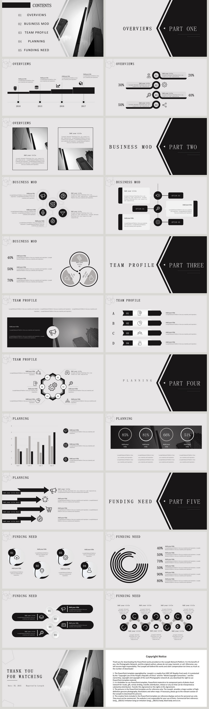 black ash minimalist formal business plan ppt template