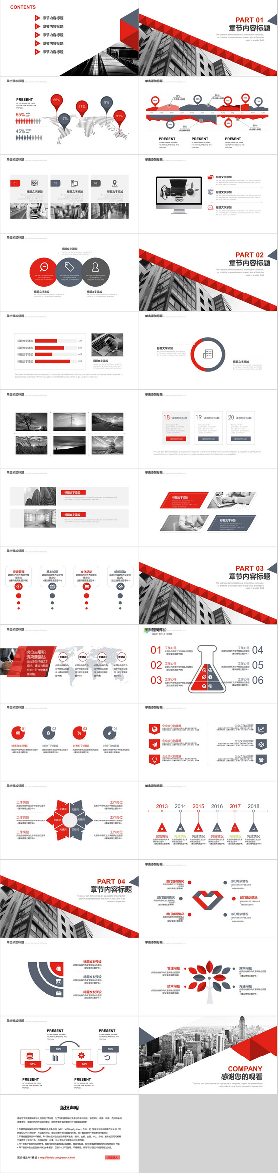 red flattening business project plan ppt template powerpoint